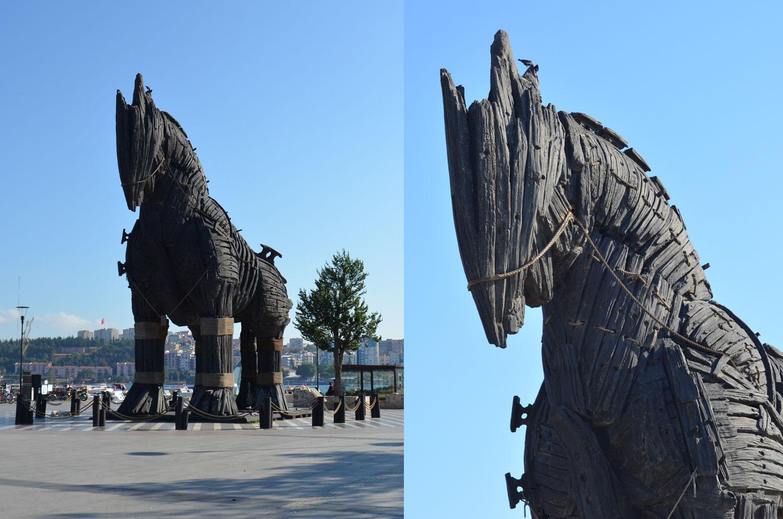 Чанаккале Турция. Троянский конь